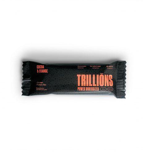 Barritas proteicas sabor Choco y naranja trillions